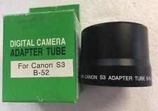 Adapter tube per Canon S3 B-52 per Canon Powershot S2/S3/S5 IS nuovo