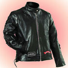 LADIES Leather Motorcycle Jacket--FREE Leather Cap with Purchase--Size Large