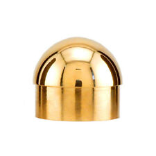 "Domed End Cap - Polished Brass - 1.5"" Od - Bar Footrail Tubing Decor Accessories"