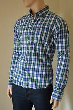 NEW Abercrombie & Fitch Mount Colvin Green & Blue Plaid Shirt Check XXL RRP £82