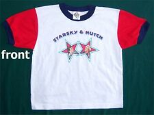 STARSKY & HUTCH! STAR WHT RINGER KIDS T-SHIRT YTH LARGE  NEW