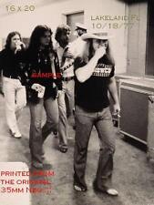 Lynyrd Skynyrd 16 X 20 B&W Backstage Photo 1977 Lakeland,FL Freebird