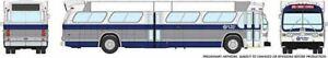 HO 1:87 Rapido # 703033 - 60s-86 GM New Look-Fishbowl Bus - Kansas City 647 (sil