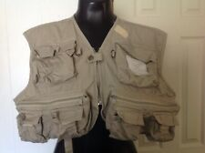 White River Fly Shop Men 3XL XXXL Fishing Vest Cargo Hunting Khaki Cotton
