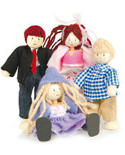 NEW PAPO Le Toy Van - Quality Wooden Dolls Doll Family - Set of 4 Mother Father