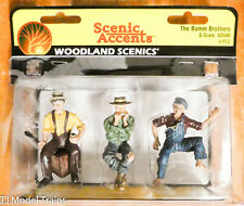 Woodland Scenics G #2548 The Bumm Brothers (Figures) 1:24th Scale