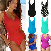 Plus Size Women One Piece Swimsuit Push Up Padded Monokini Bikini Beach Swimwear