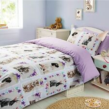 PET LOVE DOUBLE DUVET COVER SET KIDS ANIMALS BEDDING 2 IN 1 DESIGNS