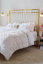 NWT ANTHROPOLOGIE WHITE BERTILIA KING DUVET COVER *BRAND NEW*