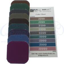 Set of 9 Micro-Mesh soft-touch polishing pads, woodworking, crafts, fine sandi