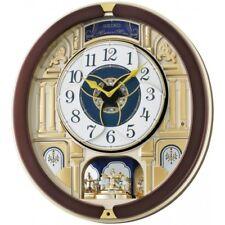 4517228829826 Seiko QXM356B Melody in Motion Wall Clock With Rotating Pendulum