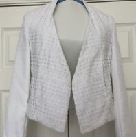 W118 by Walter Baker White Eyelet Theodore Jacket Size 4 (S) NWT MSRP $198