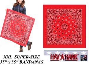 "35""x35"" RED SUPERSIZE XXL GIANT PAISLEY BANDANA Bandanna Head Wrap Scarf Scarves"