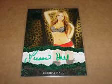 2015 Benchwarmer Jessica Hall #39 Sin City Green Auto/10 Playboy 2 and 1/2 Men