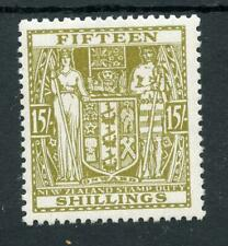 New Zealand 1940-58 Postal Fiscal 15s sage-green SGF202 MM