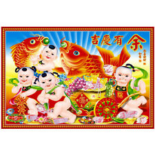 Chinese New Year's picture living room decoration painting porch big head baby h