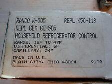 RANCO K-505 Household Refridgerator Control 18F to 47 F Replaces K50-119