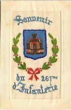 More details for ww1 regimental silk. souvenir du 261me d'infanterie by l.s.,paris.
