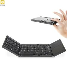 Bluetooth Keyboard Wireless Foldable Touchpad Keypad For Android Tablet Ipad