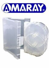 100 x 6 Way Clear Megapack DVD 32mm [6 Discs] New Empty Replacement Amaray Case
