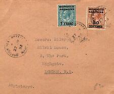 MOROCCO AGENCIES KGV Cover GB London 1932{samwells-covers}PB171