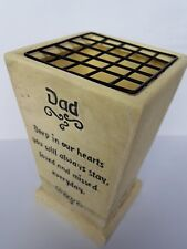 Dad Memorial Graveside Flower Pot Vase With Verse