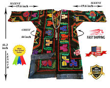 Velvet Hand Embroidery Vintage Uzbek Suzani Chapan Robe Dress Sale Was $199.00