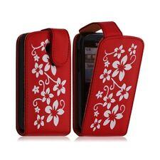 Etui pour Samsung Chat 335 S3350 motif fleur couleur rouge
