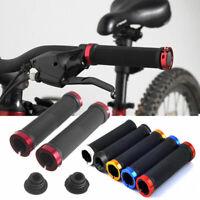 2pc Double Lock On Locking MTB BMX Mountain Bike Bicycle Cycling Handle Bar Grip