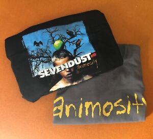 Sevendust Anomosity Tour T-Shirt Y2K vintage X 2 black & grey