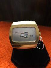 Vintage Sears Digital Jump Hour Windup Mans Watch