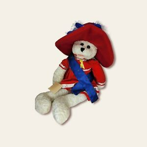 Chantilly Lane Musical Bear Plush Red White and Blue with tags. NOT TESTED