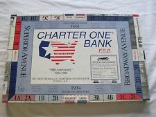 Charter One Citizens Bank Monopoly Game Complete Unpunched Defunct Bank RARE HTF