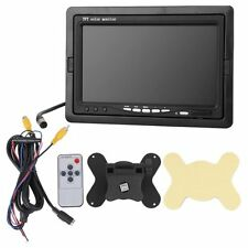 """7 """"Car Car TFT Color Monitor for VCD DVD GPS Rear View Camera + Remote  BT"""