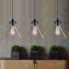 Contemporary Glass Pendant Light Kitchen Lamp Bar Modern Ceiling Lights Home ORB