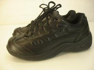 Converse Work Women's 6.5 M C110 Black Leather Shoes Sneakers Oil Slip Resistant