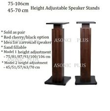 Home Theatre/Bookshelf/Hi Fi Speaker Stands  45-70 75-106CM Height  Adjustable