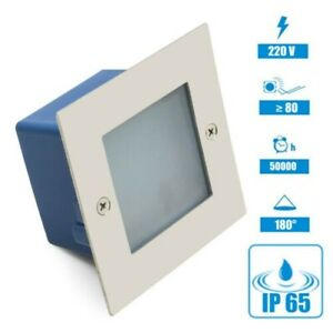 LED Wall Light Fixture Levels Stairs Light Lighting Frosted Glass Outdoor IP65