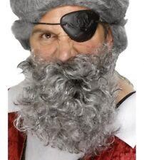 hommes Déguisement pirate barbe gris bierd Bouclé Neuf par SMIFFYS