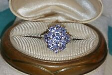 chuck clemency NYCII sterling silver oval pear Amethyst Tanzanite cluster ring
