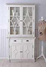 küchenvitrine shabby vitrine blanc VAISSELIER / Buffet de Cuisine Console bois