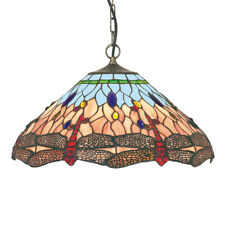 Searchlight 1 Light Dragonfly Tiffany 16 Inch Bowl Pendant Light With Suspension