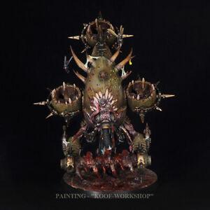 Warhammer 40k Painted Death Guard Foetid Bloat-drone, Painted Grimdark style