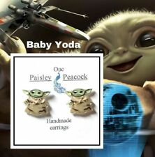Star Wars The Child Baby Yoda Stud Earrings,Mandalorian, Adopt a Jedi master