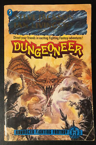 DUNGEONEER Advanced Fighting Fantasy Foil Lettering Good