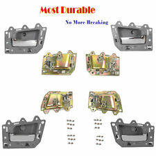 For Jeep Grand Cherokee Set 4pcs Inside Door Handle Gray Chrome Bolt DS294-NS