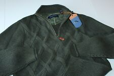 Tommy Bahama Sweater Half Zip Desert Diamond Cedar Green T417092 Medium M