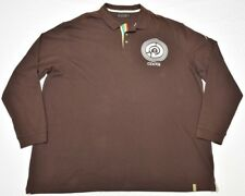 Coogi Polo Shirt Men's 6XL 6XB 6X Embroidered Long-Sleeve Shirt Brown N915(d)