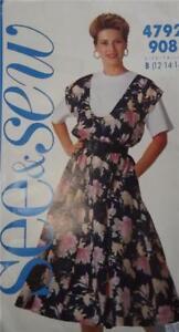 VINTAGE 1990 DRESSMAKING PATTERN - BUTTERWICK 4792 UNUSED SZ 12-16