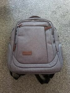 "KROSER Laptop Backpack for a 17.3"" Laptop, inc USB port. KTF757 Light Grey"